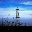 Oil wells in the region of Bihor